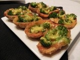 Broccoli and Cheddar Potato Skins