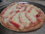Creamy Ricotta, Red Pepper & Onion Pizza