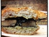 Grilled Portobello Sandwich With Creamy Pesto Sauce