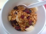 Healthy Banana Granola Cup ~ At-Your-Desk Breakfast