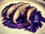 Irish Whiskey Portobello Over Braised Red Cabbage