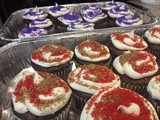 Simple Super Bowl xlvii Cupcakes