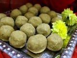 Atta badam ladoo / Wheat Almond laddu