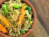 Chettinad Vegetable Biryani / Seeraga Samba Vegetable Biryani
