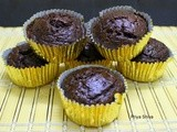 Eggless Double Chocolate Banana Muffin