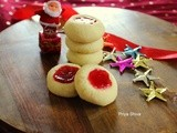 Jam thumbprint Cookies / Jam-filled shortbread cookies