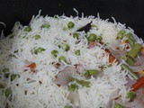 Vegetable Pilaf – Quick Way in Rice Cooker