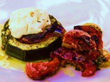 Baked Courgette with Goats Cheese and Sun-Blushed Tomatoes
