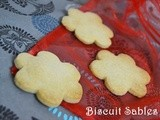 Biscuit Sables/ Eggless French Shortbread Biscuits