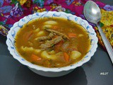 Chorba Lsan Tair ~ Moroccan Orzo Meat Soup