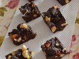 Dark Chocolate Nuts Fudge ~ The bst's Post #500