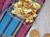 No Bake Lotus Cheesecake Shots with Butterscotch Popcorn