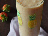 Pineapple Strawberry Soy Milk Smoothie