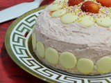 White Chocolate Cake with Strawberry Butter-cream - and Blogoversary #2 Winner declared