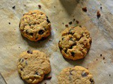 Wholewheat Chocolate Chip Tahini Cookies