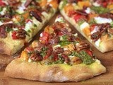 A Café Fall Favorite, Sweet Potato & Pesto Pizza w/ Rosemary Braised Bacon & Rosemary Roasted Potatoes