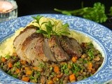 A French Country Farmhouse Dinner - Herbes de Provence Pork Tenderloin w/ Braised French Lentils