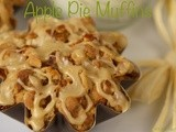 Apple Pie Muffins w/ Oatmeal Crumble & Caramel Drizzle
