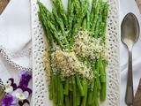 Asparagus with Lemon Parsley Panko