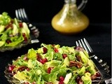 Avocado & Pomegranate Salad w/ Honey-Citrus Vinagrette & Sweet n' Spicy Pecans