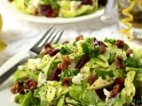 Avocado & Roasted Beet Salad w/ Goat Cheese, Rosemary-Honey Roasted Walnuts & Lemon Poppy Seed Vinaigrette