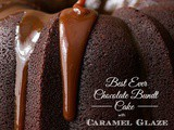 Best Ever Chocolate Bundt Cake with Caramel Icing
