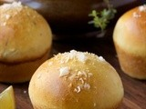 Brioche Dinner Rolls w/ Lemon, Thyme & Sea Salt