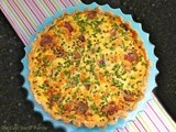 Cheddar Quiche - with Asparagus & Bacon