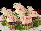 Chocolate Cupcakes with Peppermint-Cream Cheese Filling and Buttercream Icing - to Celebrate a Birthday & a Sweet Reunion