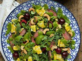 Grilled Steak Salad with Sweet Cherries and Lemongrass Basil Dressing
