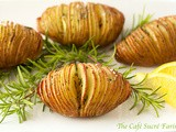 Hasselback Potatoes w/ Garlic, Lemon & Rosemary