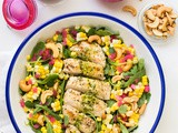 Lemon Oregano Chicken and Corn Salad