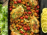 Mediterranean Roasted Chicken Breasts w/ Tomatoes & Cannelini Beans