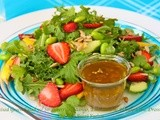 Mixed Green Salad w/ Strawberries, Mango, Edamame & Honey-Lime Dressing