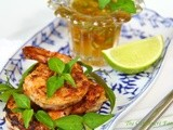 Pan-Seared & Blackened Shrimp w/ Marmalade Dipping Sauce