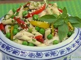 Pasta Salad - Thai Style w/ Coconut Milk Poached Chicken