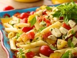 Penne Pasta Salad w/ Fresh Mozzarella and Heirloom Tomatoes - a Taste of Summer and a Glimpse of Paradise