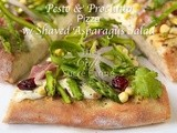 Pesto & Prosciutto Pizza w/ Shaved Asparagus Salad