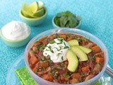 Pork Tenderloin Chili w/ Cannellini Beans, Black-Eyed Peas & Butternut Squash
