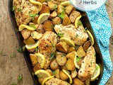 Roasted Chicken and Potatoes with Garlic, Lemon and Herbs