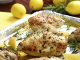 Roasted Chicken Breasts w/ Lemon, Garlic & Rosemary