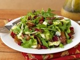 Roasted Pear Salad w/ Dried Cranberries, Gorgonzola, Sweet 'n Smoky Pistachios & Champagne-Honey Vinaigrette