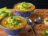 Roasted Red Pepper & Chicken Coconut Curry w/ Avocado-Mango Relish and a giveaway