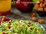 Shaved Brussels Sprouts and Apple Salad w/ Blue Cheese, Whole-Grain Honey Croutons & Cider Vinaigrette