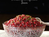 Super Easy, Crazy Delicious Cranberry Pomegranate Sauce