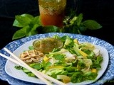 Thai Noodle Salad w/ Coconut-Poached Chicken, Avocado, Bok Choy & Honey-Ginger Dressing