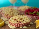 The Best Muffins - Ever! Raspberry Crumble Muffins w/ Citrus Drizzle