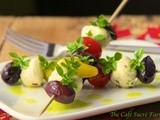 The Perfect Summer Salad - Tuscan Tomato & Fresh Mozzarella Skewers w/ Basil Oil