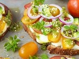 Tomato, Avocado & Fresh Mozzarella Tartines