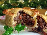 A vegetarian Christmas dinner ~ chestnut and pecan raised pie